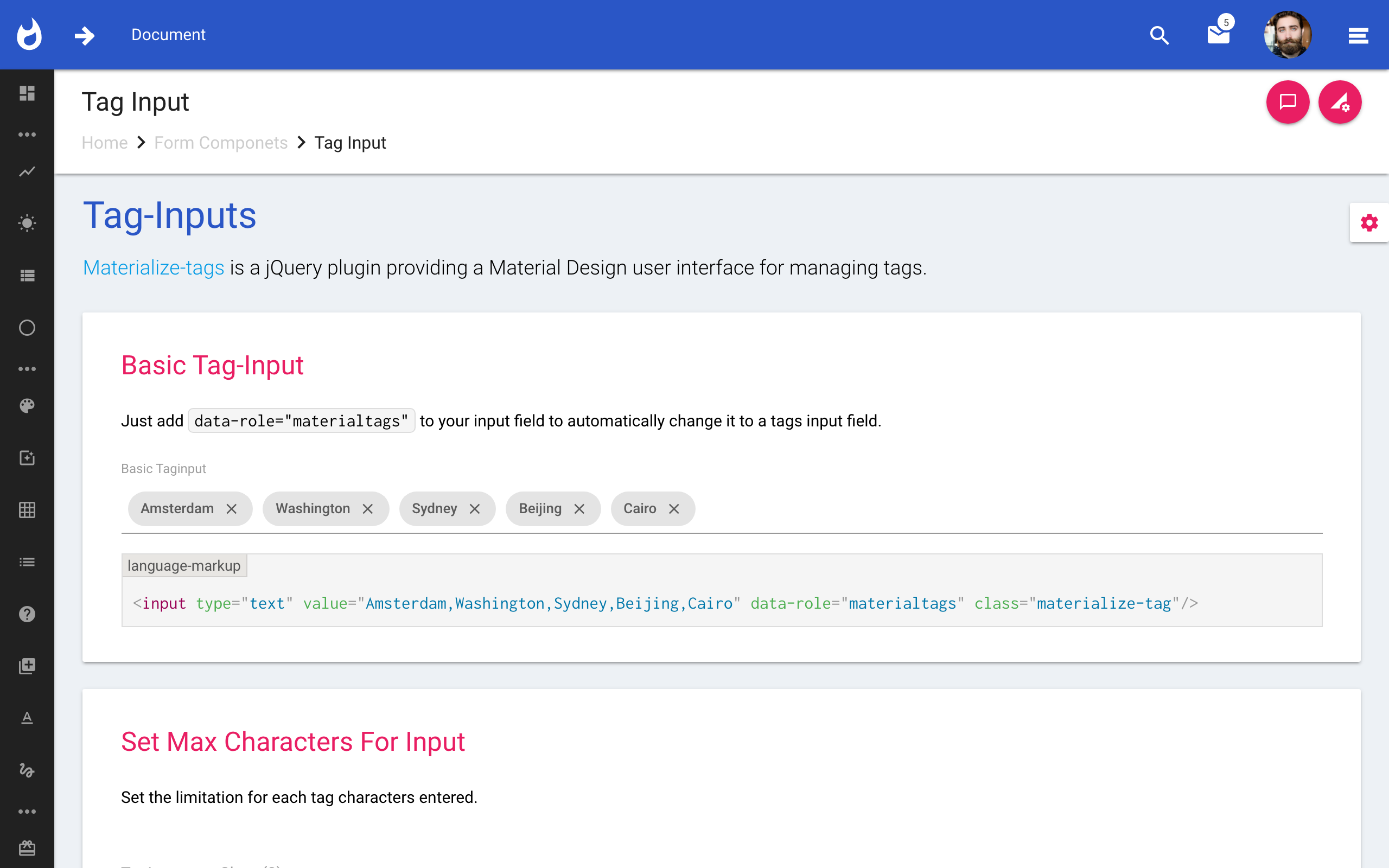 Forge :: Material Admin Template